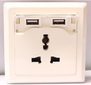 USB Wall Plates, USB Wall Socket Universal Type pictures & photos