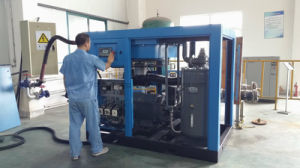 75kw Stationary Screw Air Compressor of Rotary Type pictures & photos