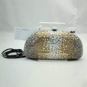 Crystal Evening Bag (WHC391-1GOLD+PEWTER AB MUTLI)