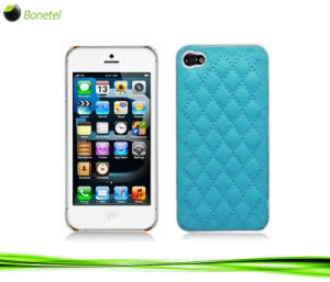 Fashion Inspired Luxury Quilted Mobile Phone Case for iPhone 5 (Blue)