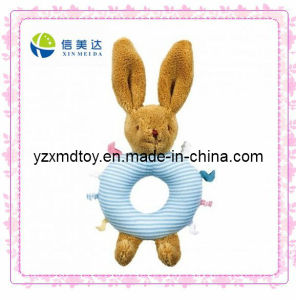 Plush Blue Rabbit Rattle Baby Toy (XMD-0089C) pictures & photos