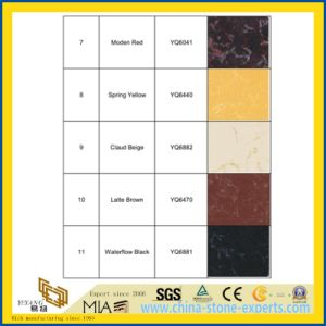 Vein Black/Red/Yellow/Beige/Brown Artificial Quartz Bathroom Wall Tiles for Home pictures & photos