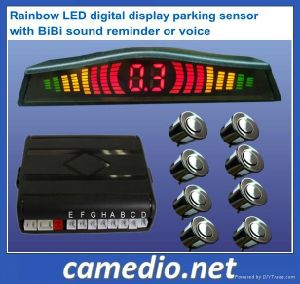 3 Color Car Front& Rear LED Display Parking Sensor System with 4/6/8 Sensors Optional pictures & photos
