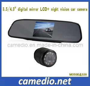 "3.5inch Car Backup System (3.5"" digital mirror LCD+night vision car camera) pictures & photos"