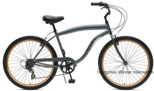 26′′ Mens 7 Speed Steel Beach Cruiser Bicycle pictures & photos