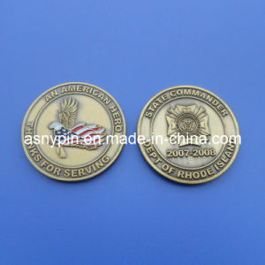 Metal Antique Military Souvenir Mint Coin with USA Flag (ASNY-JL-coin-130610) pictures & photos