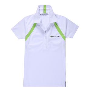 White 100% Polyester Quick Dry Fit Polo/Golf Shirt pictures & photos