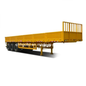 ISO CCC Approved 3 Axles 28t Truck Trailer with Sidewall