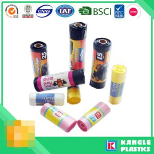 Custom Disposable Plastic HDPE LDPE Garbage Bag on Roll pictures & photos
