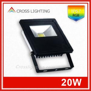 Pure Aluminium Radiator IP67 20W RGB LED Floodlight