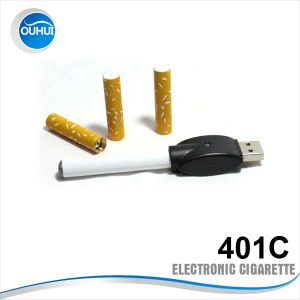 Tobacco Smoking Health E Cigarette Battery with USB Connector and Disposable Cartridge (OH-401C)