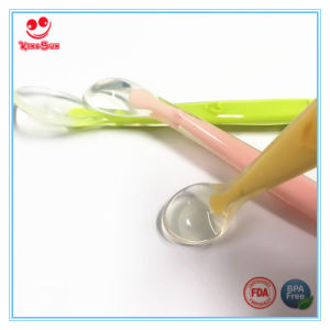 Health Softness Silicone Spoon for Baby Dinner Set pictures & photos