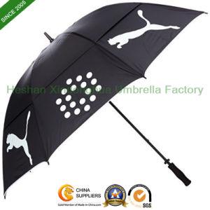 Manual Open Double Canopies Windproof Golf Umbrella (GOL0027FDA) pictures & photos