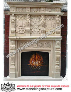 Marble Fireplace Mantel (SK-1534) pictures & photos