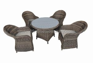Rattan Table Chair Set (7113) pictures & photos