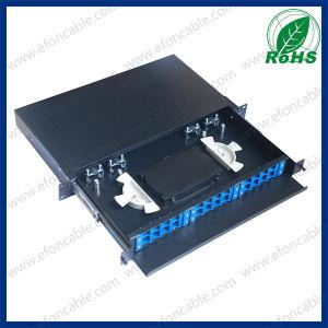 1u 19-Inch 12/24 Port Sc/FC/LC Rack Mount Fiber Optic Patch Panel pictures & photos