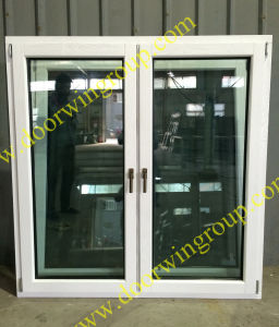 Europe Style Solid Wood Aluminum Window White Color Painting pictures & photos