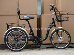 Latest Electric Tricycle E Trike for Old Man Going out Taking Some Cargos Shimano Gear pictures & photos