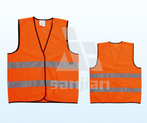 Jy-7011 100% Polyester High Visibility Safety Vest, High Visibility Vest pictures & photos