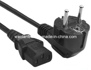 VDE Approved Germany Schuko to IEC C13 Power Cord pictures & photos