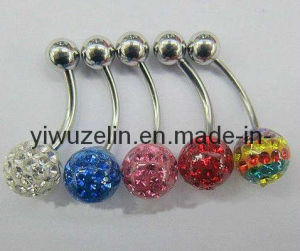 CZ Crystal Navel Ring Banana Ring (AC48)