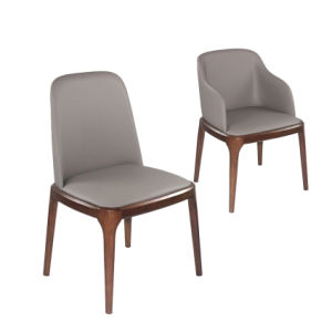 (SD1014) Modern Hotel Furniture Wood Leather Upholstery Restaurant Dining Chair pictures & photos
