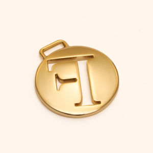 New Design Quality Gold Round Pendant for Bag, Garment Accessory pictures & photos