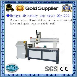 Jinan Rotary CNC Woodworking Router Ql-1200 Price for Sale pictures & photos