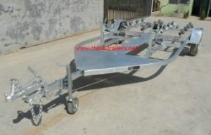 Galvanized Double Jet Ski Trailer with Roller pictures & photos