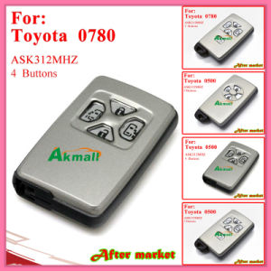 Smart Key with 4buttons 312MHz 0500 Silver for Toyota pictures & photos