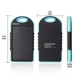 5000mAh Solar Power Bank Dual USB Port Portable Charger pictures & photos