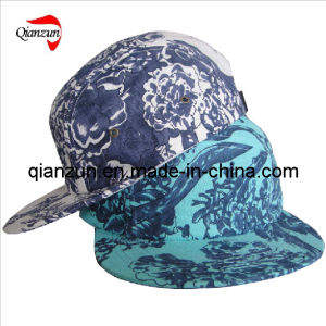 5 Panel Flat Brim Cap with Large Patter pictures & photos