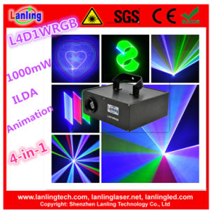 1W 4-in-1 4D RGB Ilda Animation Laser Lighting pictures & photos