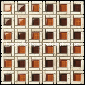 Stone Mix Glass Mosaic Tile (HGM292) pictures & photos