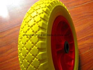 3.50-8 PU Foam Wheelbarrow Wheels Trolley Wheels with Steel Rim Flat Free pictures & photos