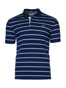 2017 Men Cotton Fashion Yarn Dye Stripe Short Sleeve Polo Shirts Clothes (S8277)