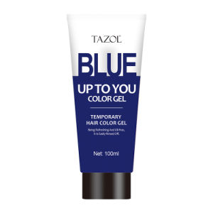 Tazol Temporary Hair Color Gel with Blue Color 100g pictures & photos