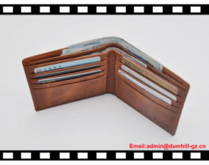 Casual Leather Men Credit Card RFID Wallets pictures & photos
