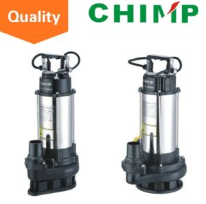 1.1kw Stainless Steel Sewage Submersible Water Pumps with Cutting Impeller for Dirty Water pictures & photos