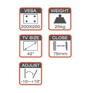 New Full-Motion TV Wall Mount Fit for 21-55′′ pictures & photos