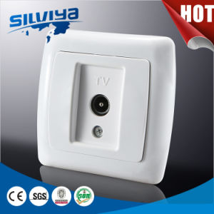 Good Quality! 1 in 1 out Euro Standard TV Wall Socket pictures & photos