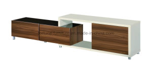 Modern Wooden Walnut & White TV Cabinet B212-2.1