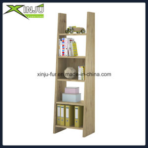 Modern White/Wood Grain 4 Layer Display Shelf pictures & photos