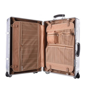 "Expandable 20"" ABS Carry on Luggage Travel Bag Trolley Suitcase Black pictures & photos"
