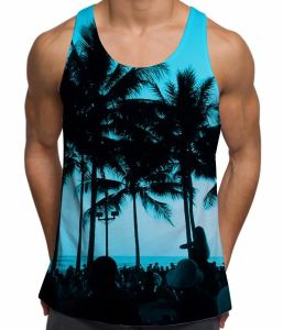 Beach Party Summer Holiday Mens Low Cut Vest (A661) pictures & photos