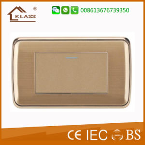 1 Gang Gang Wall Switch Stainless Steel Wall Plate pictures & photos