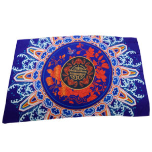 Blue Polyester Chiffon Print Scarf Chinese Style pictures & photos