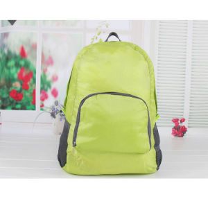 Online Hot Selling Oxford Cloth Backpack Folding Portable Travel Bag pictures & photos