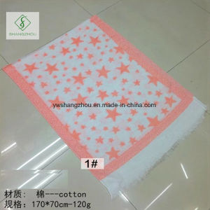 2017 New Fashion Lady Pashmina Jacquard Shawl with Star Printed pictures & photos