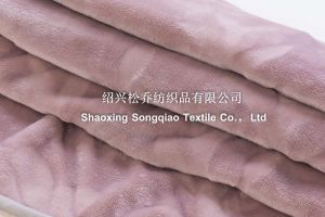 2017 3D Embossed Flannel with Shu Velveteen Blanket / Sherpa Fleece Throw-Lavender pictures & photos